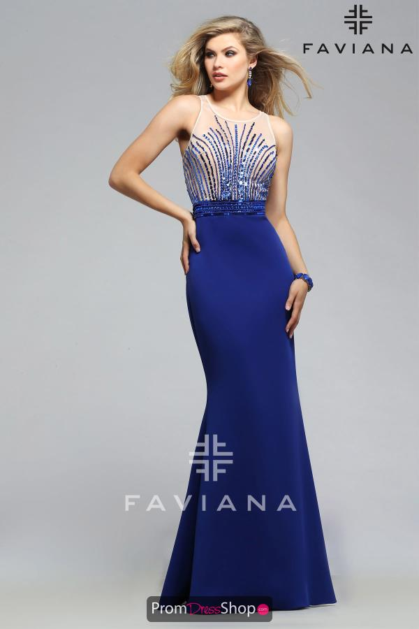 Long Fitted Faviana Dress S7749