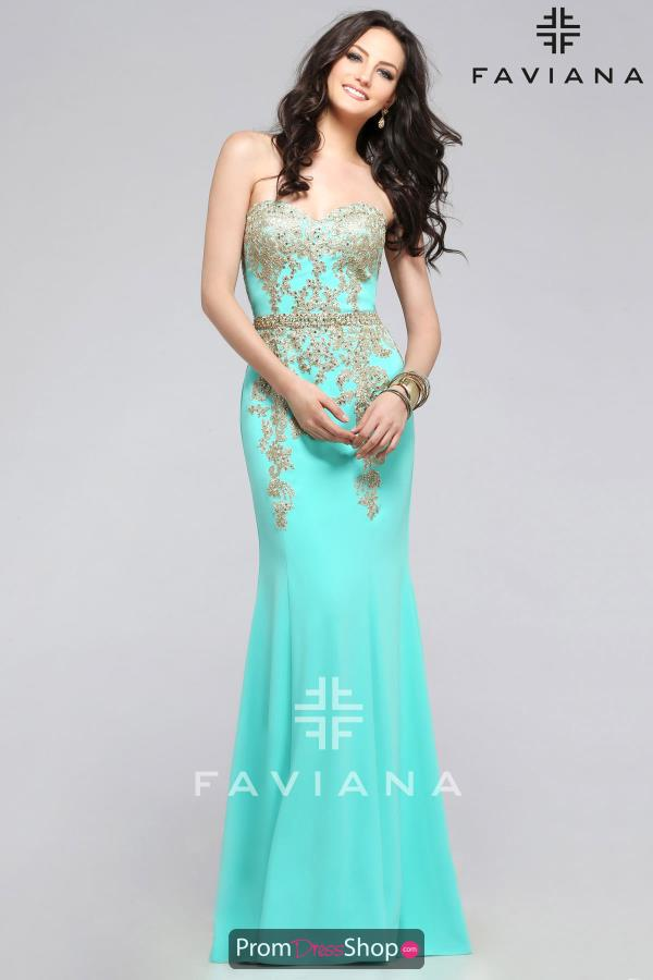 Faviana Crepe Fitted Dress S7796
