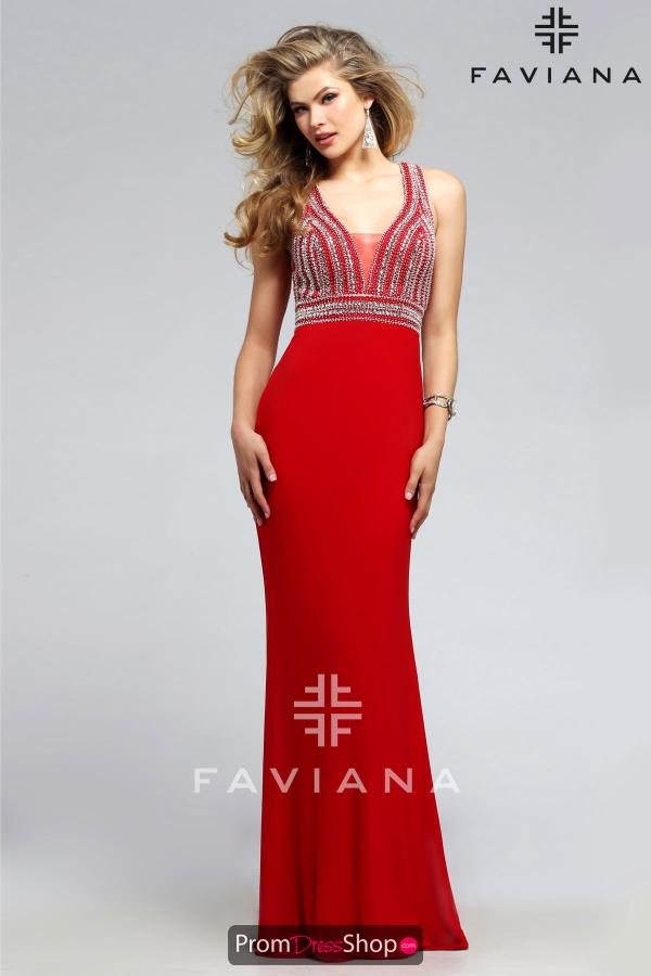 Faviana Beaded Formal Dress S7805