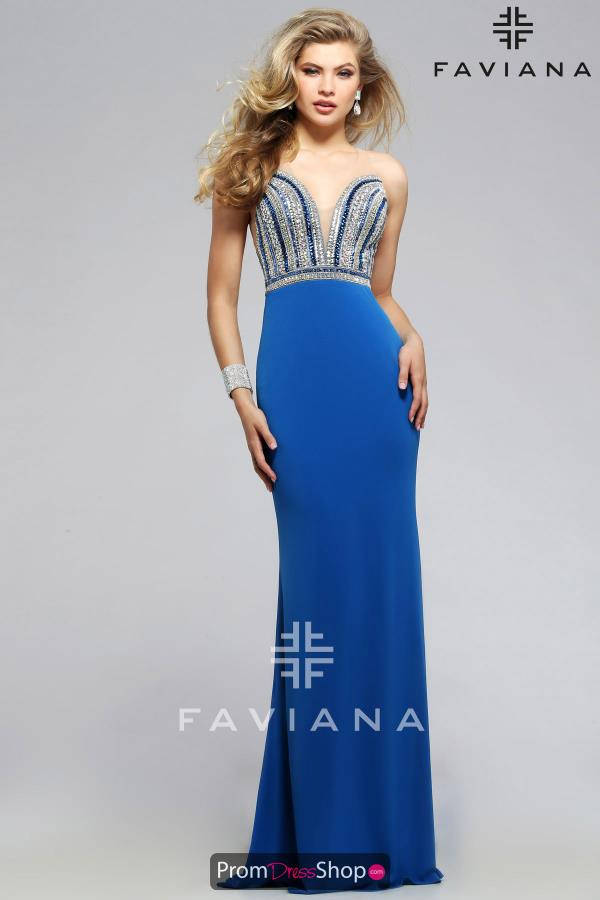 Sexy Beaded Faviana Dress S7807
