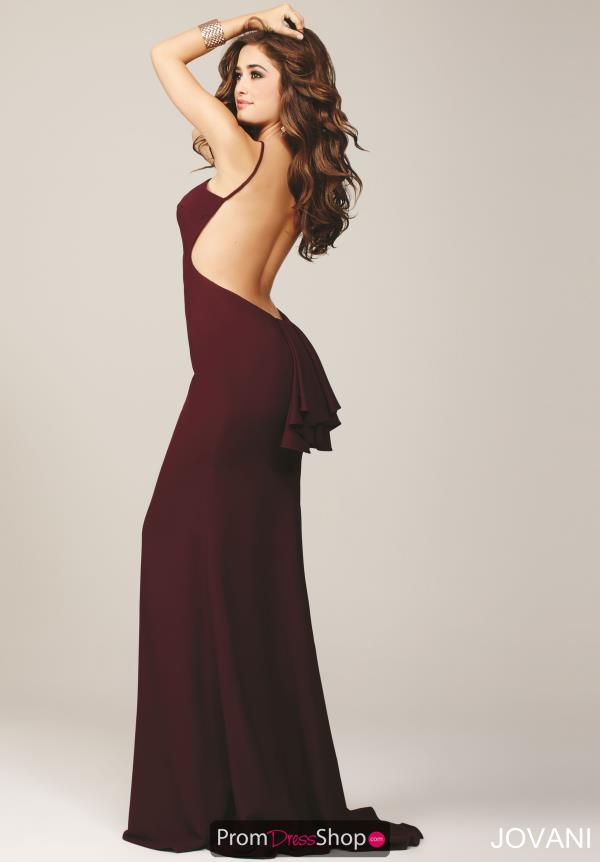 Jovani High Neckline Long Prom Dress 22696