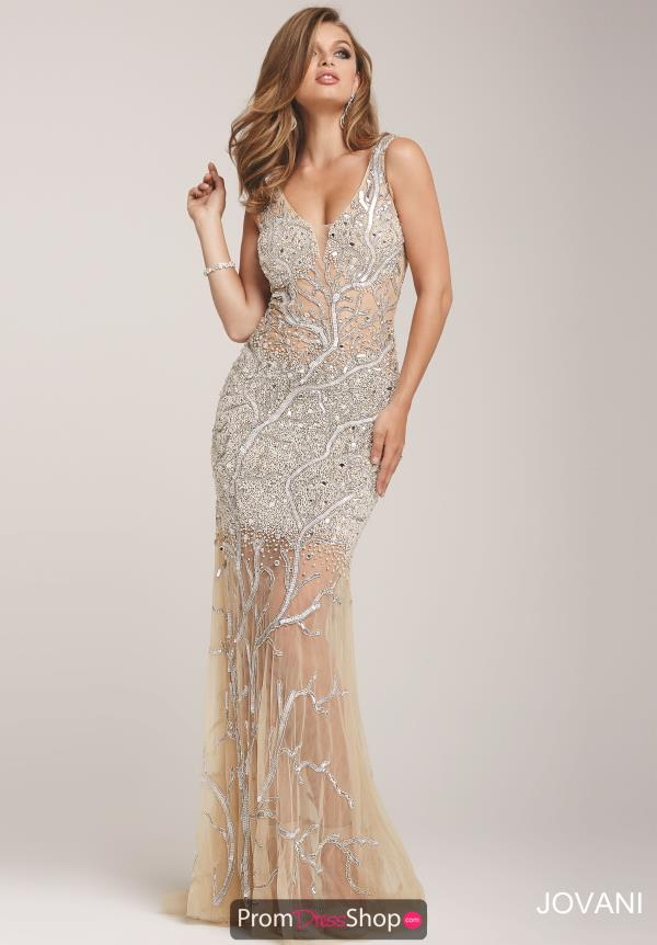 Sexy Fitted Champagne Jovani Dress 23053