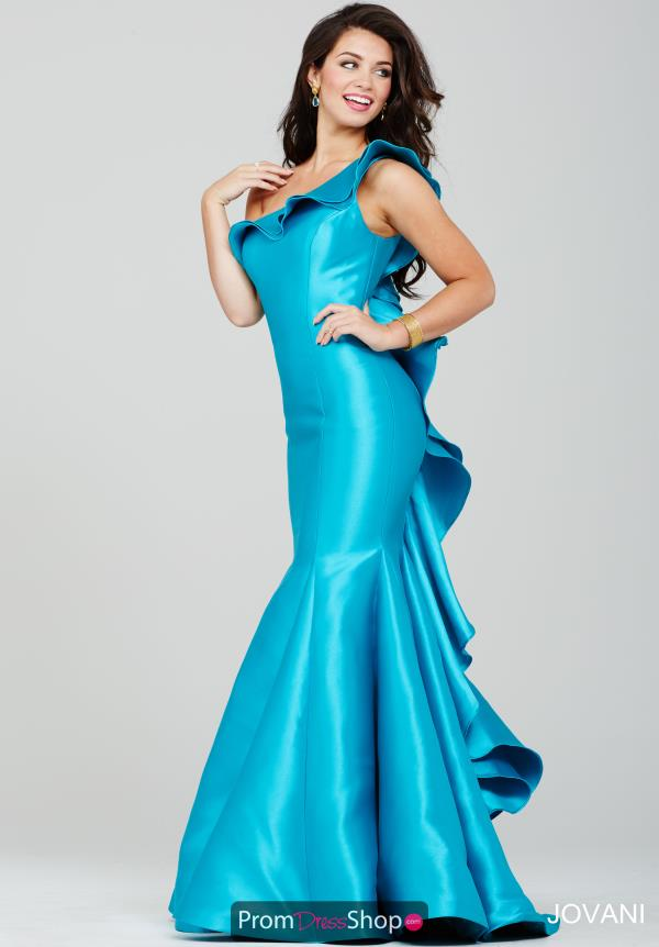 Jovani Turquoise Mermaid Dress 34068