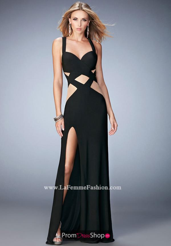 Long Jersey La Femme Dress 22172