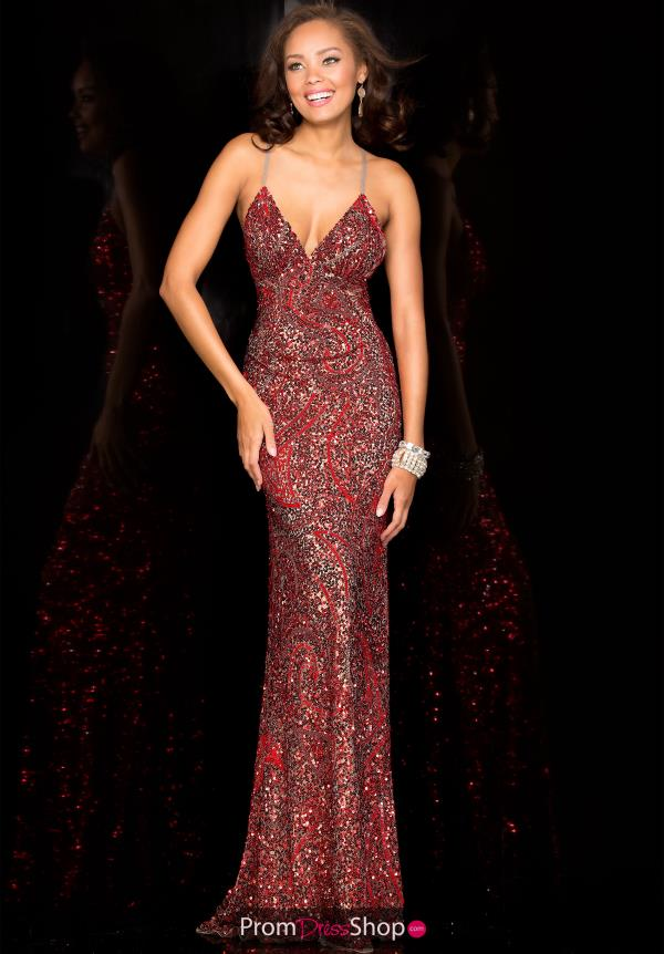 Scala Sequins Long Dress 48553