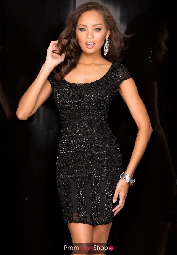 Sleeved New Year's Eve Scala Dress 48573