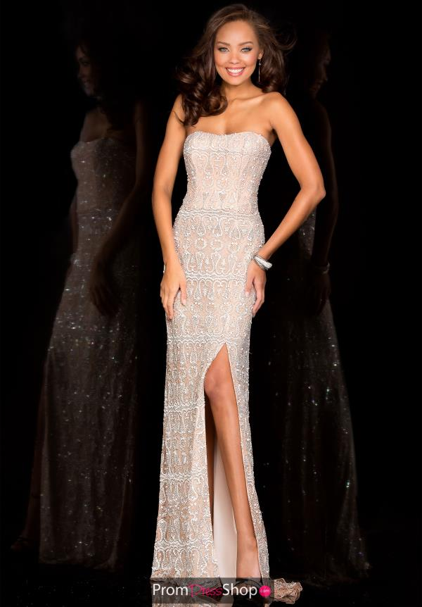 Scala Beaded Ivory Dress 48594