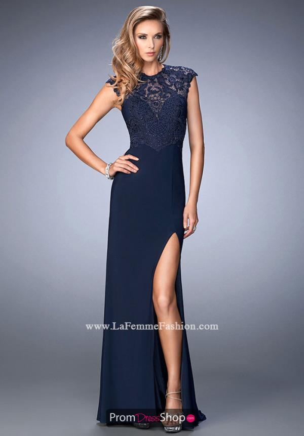Gigi Long High Neckline Dress 22585