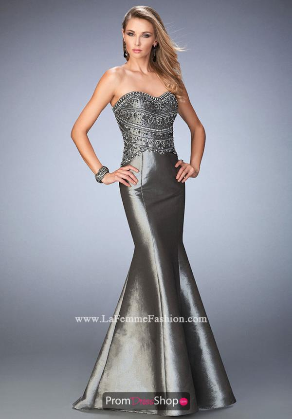 Gigi Silver Fit and Flare Fitted Dress 22721