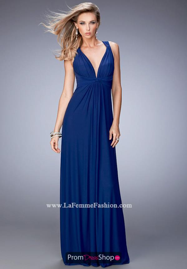 Long Fitted La Femme Dress 21976