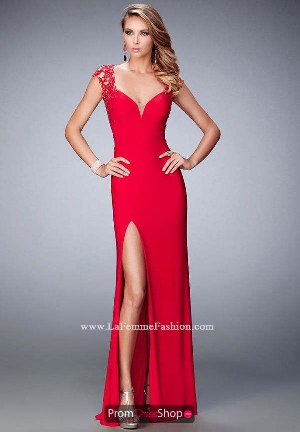 Long Jersey La Femme Dress 22171