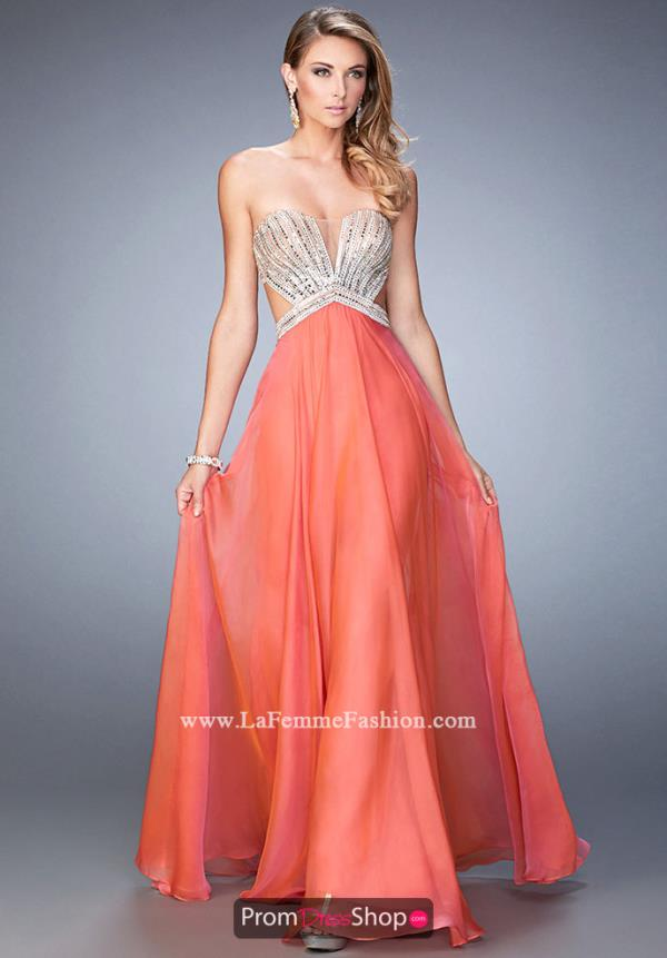 Long A Line La Femme Dress 22179