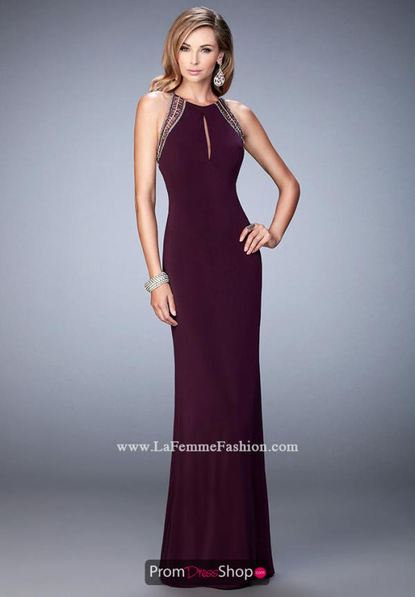 Long Fitted La Femme Dress 22264