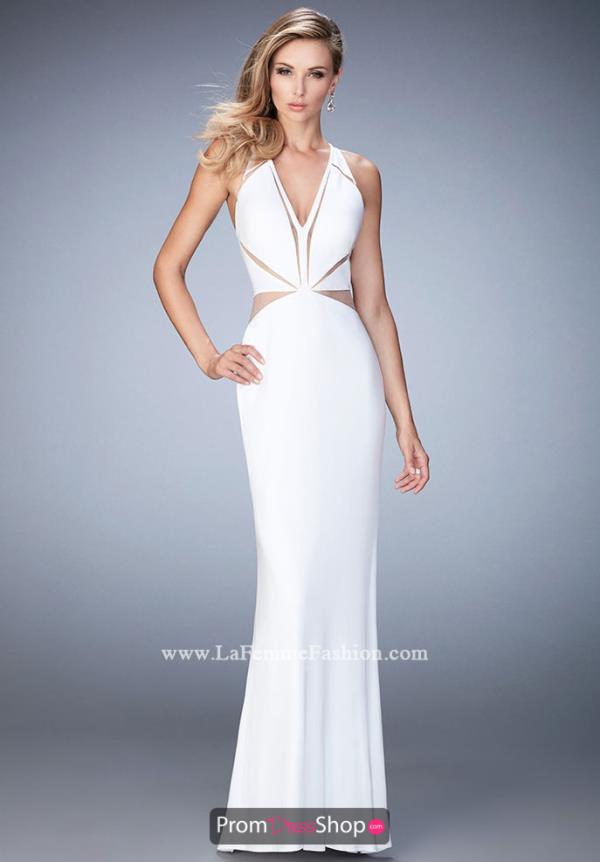 Long Fitted La Femme Dress 22276