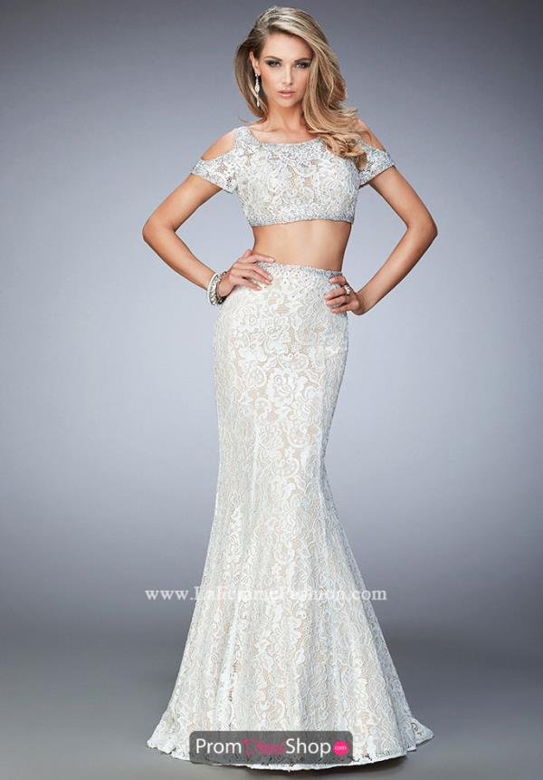 Two Piece Mermaid La Femme Dress 22339