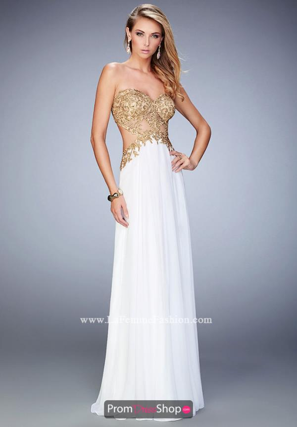 La Femme Open Back Dress 22504