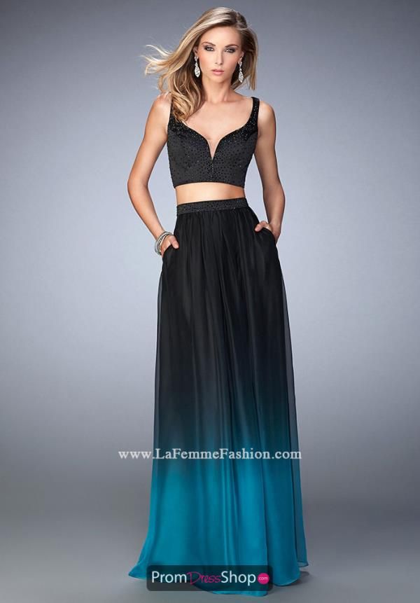Two Piece A Line La Femme Dress 22694