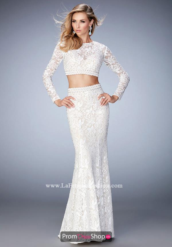 Long Fitted La Femme Dress 22871
