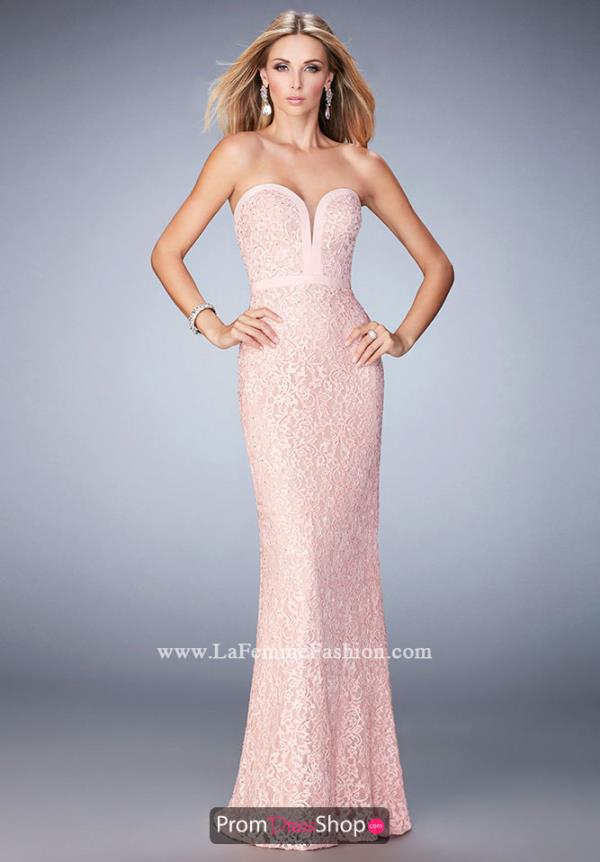 Long Lace La Femme Dress 22878