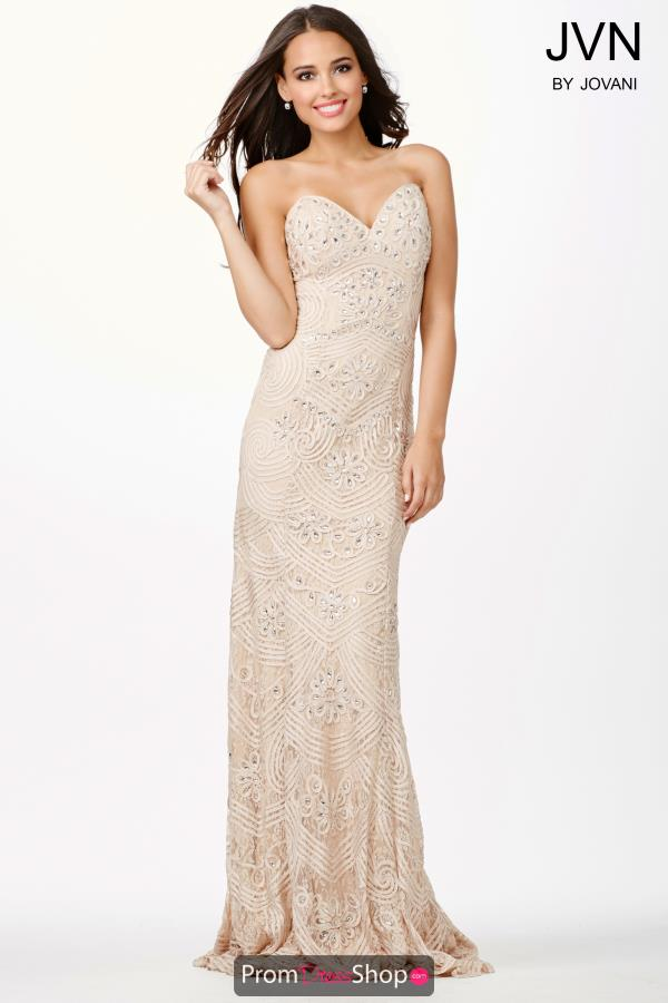 JVN by Jovani Sweetheart Neckline Beaded Dress JVN29349