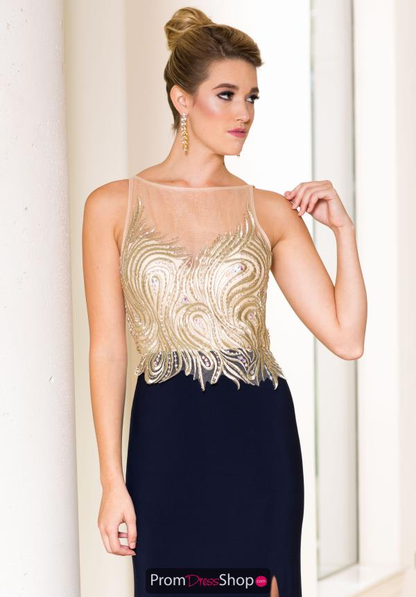Sean Navy Fitted Jersey Dress 50849