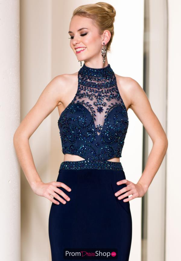 Sean Fitted Navy Jesey Dress 50851