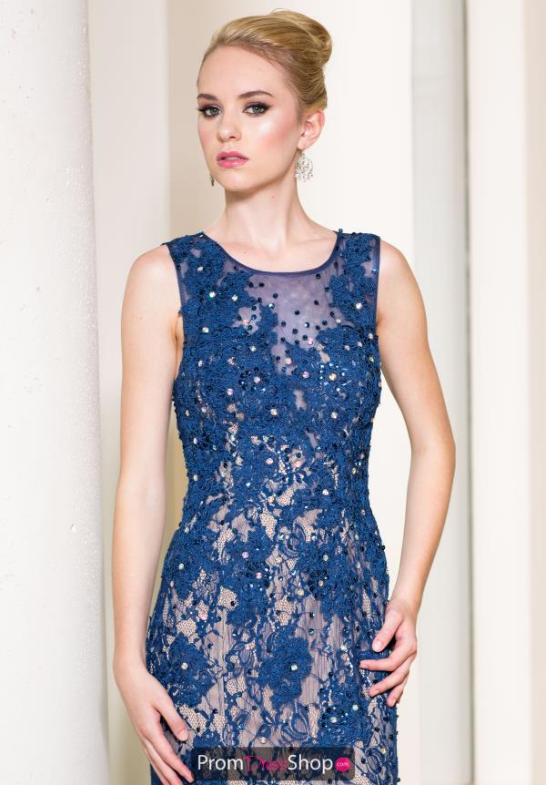 Sean Long Fitted Lace Dress 50854