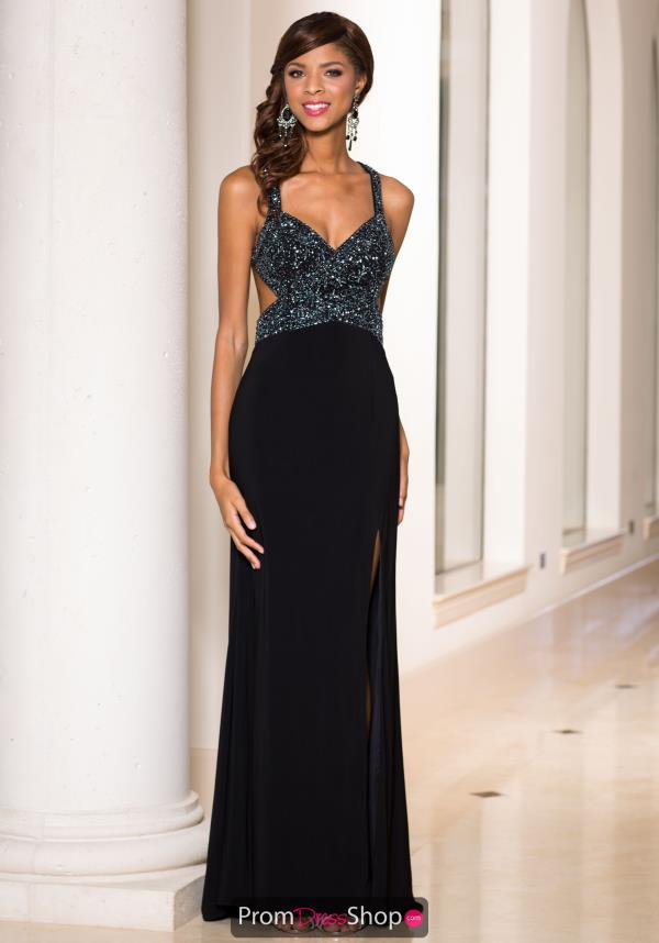 Sean Fitted V-Neckline Dress 50892