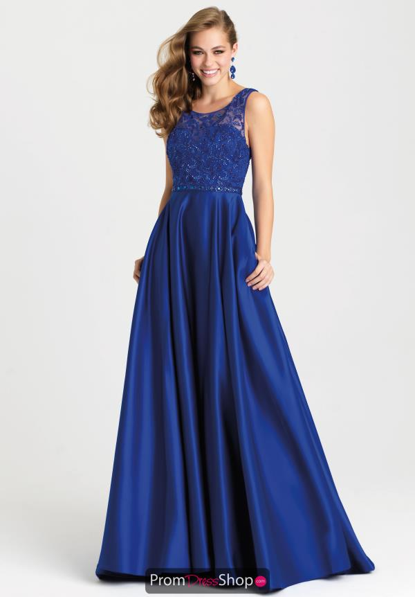 Madison James Satin A Line Dress 16-307