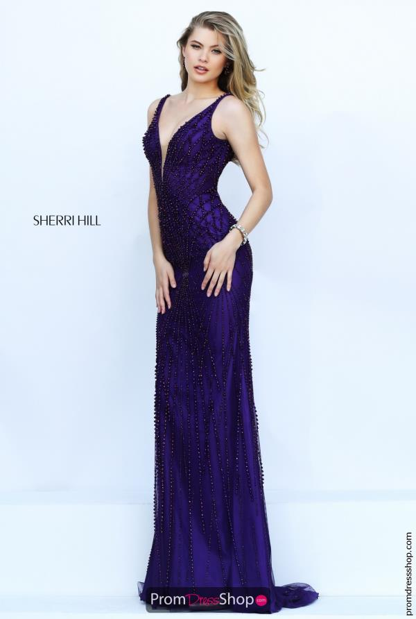 Sexy Plunging Neckline Sherri Hill Dress 32343