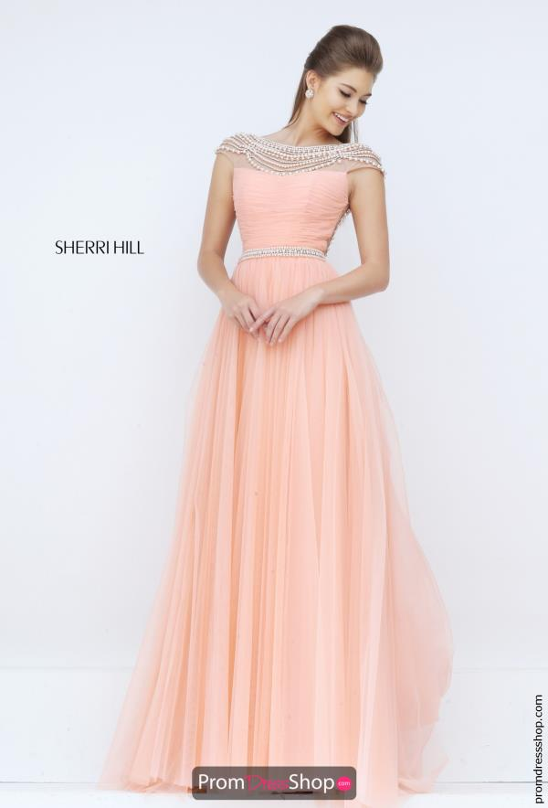 Sherri Hill Tulle A Line Dress 50187