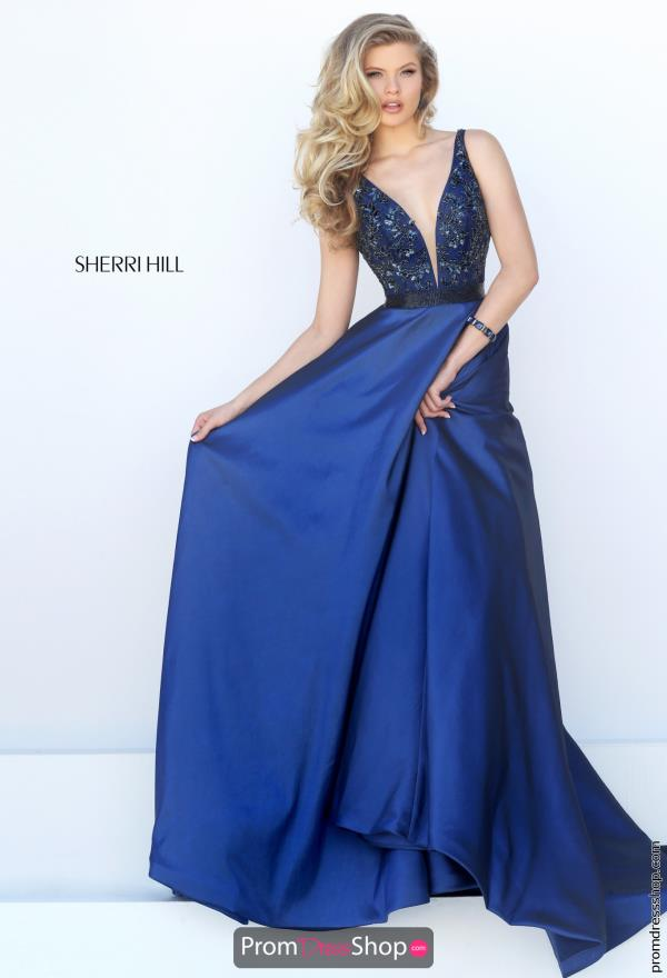 Sherri Hill Long Beaded Dress 50233