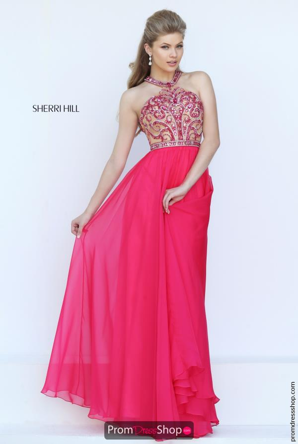 Sherri Hill Long Chiffon Dress 50420