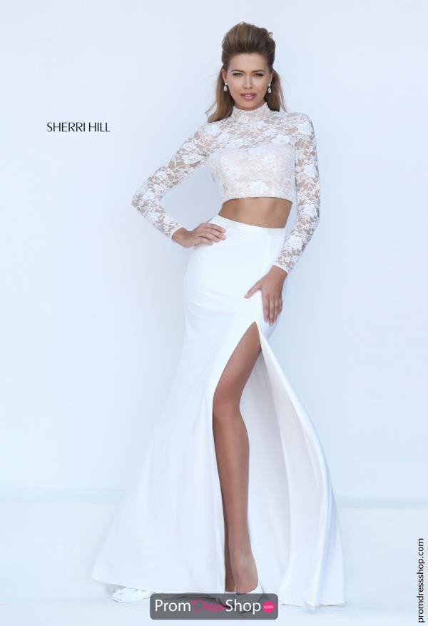 Sherri Hill Lace Fitted Bridal Dress 50455