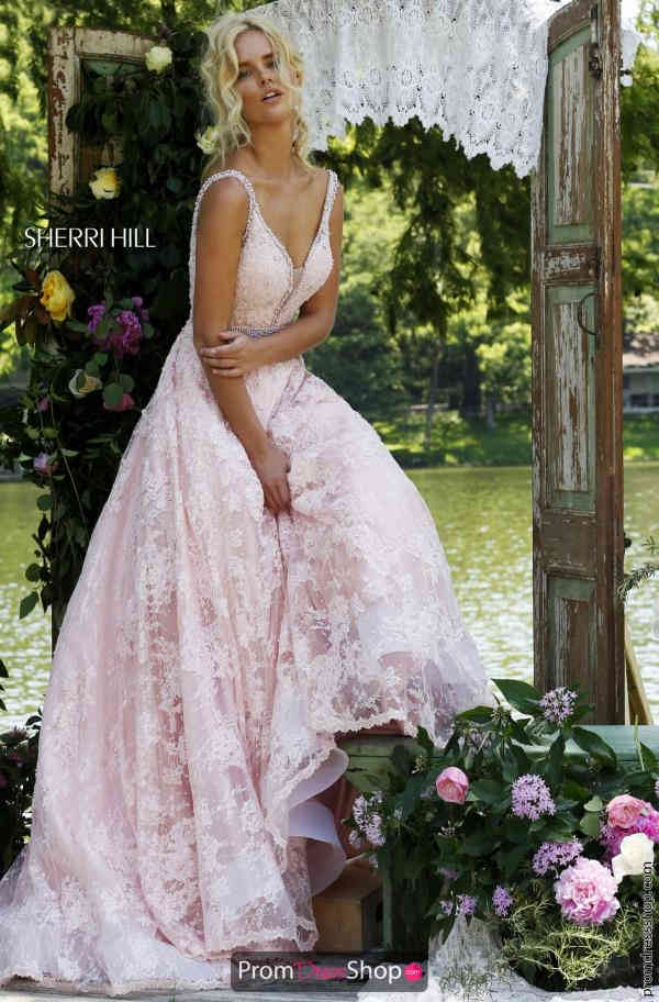 Sherri Hill Lace A Line Dress 11314