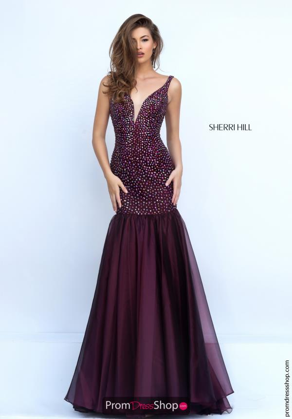 Sherri Hill Organza Mermaid Dress 11324