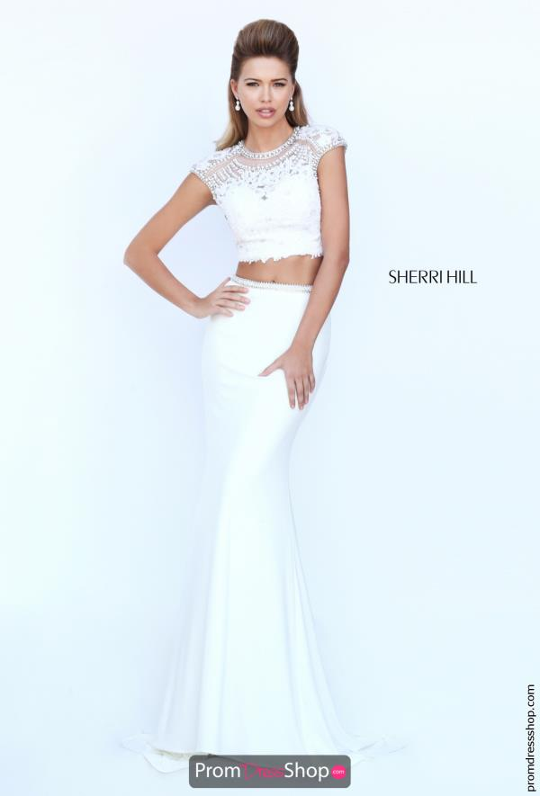 Sherri Hill Two Piece Fitted Dress 50025