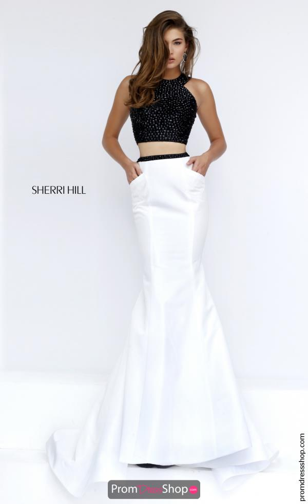 Beaded Two Piece Sherri Hill Dress 50034