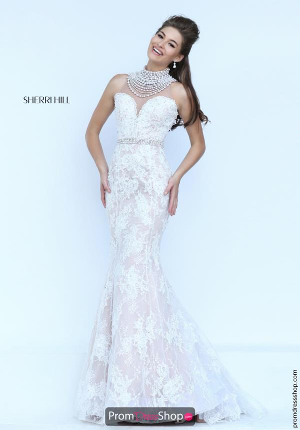 Long Beaded Sherri Hill Bridal Dress 50083