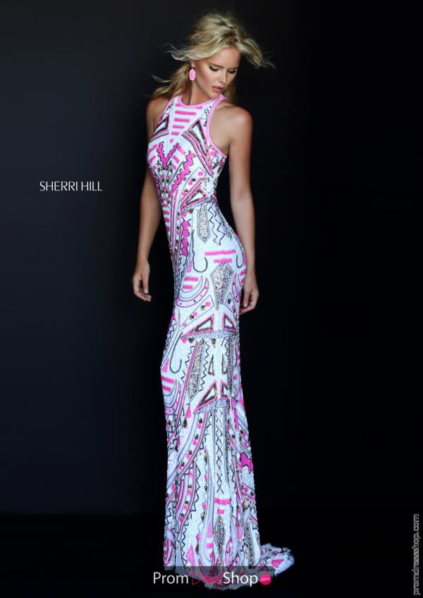 Sherri Hill Sequins Fitted Dress 50359