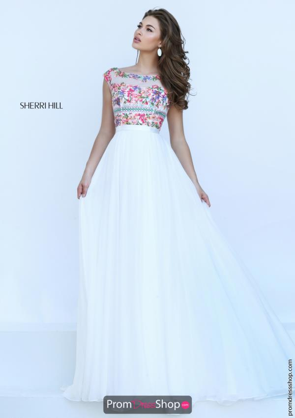 Sherri Hill Chiffon A Line Dress 50457