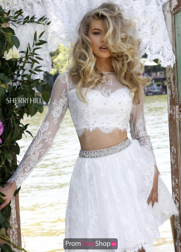 Sherri Hill Short Sleeved Two Piece Dress 50073
