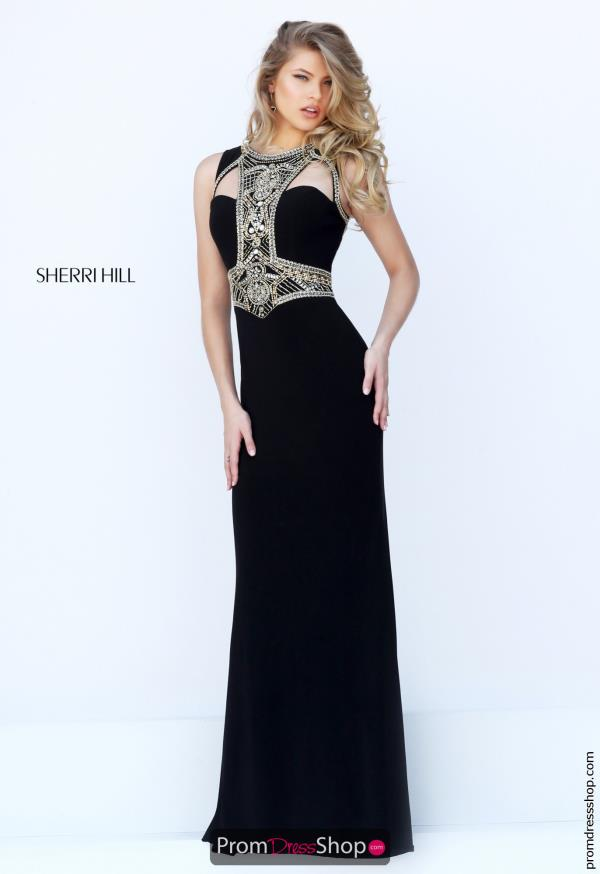 Sherri Hill Long Beaded Dress 50165