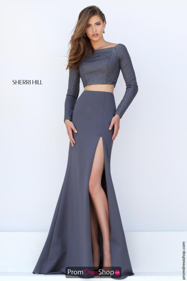 Sherri Hill Long Sleeved Dress 50209