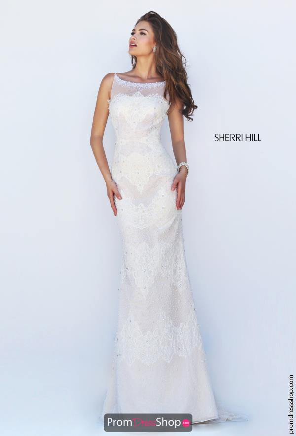 Sherri Hill Ivory Fitted Dress 50300