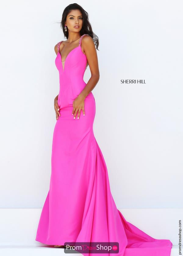 Fitted Long Sherri Hill Dress 50331