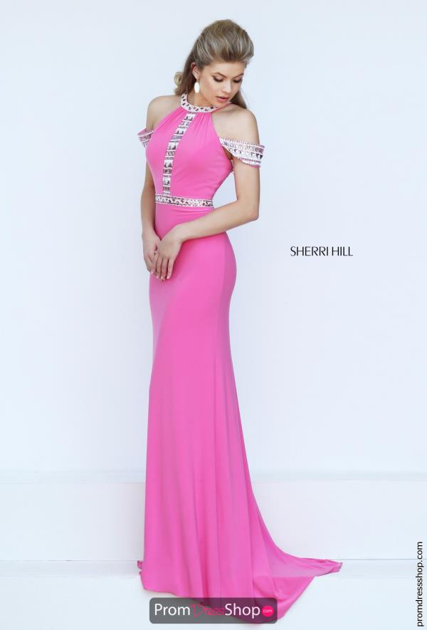 Sherri Hill Jersey Beaded Dress 50341