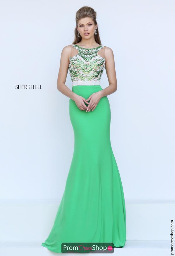 Beaded Long Sherri Hill Dress 50396