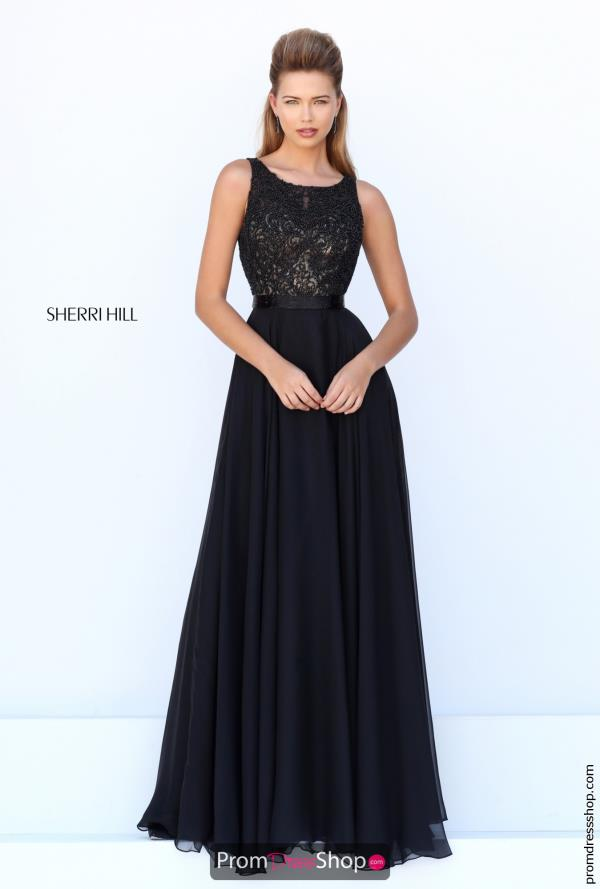Beaded A Line Sherri Hill Dress 50397