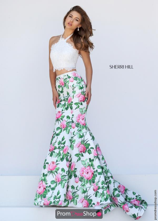 Long Lace Sherri Hill Dress 50398
